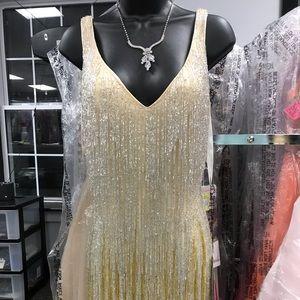 Primavera Beaded Cocktail Dress